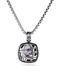David Yurman - Metallic Albion Pendant With Lavender Quartz & Diamonds - Lyst