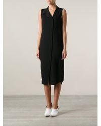 T By Alexander Wang - Black Shirt Dress - Lyst
