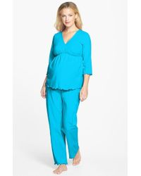 Japanese Weekend - Blue Maternity/nursing Pajamas - Lyst