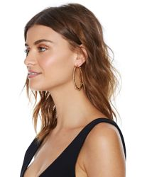 Nasty Gal - Metallic Caught Up Hoop Earrings - Lyst