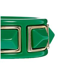 Kenneth Jay Lane | Green Stud Bracelet | Lyst