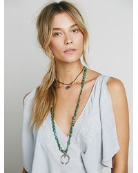 Free People - Blue Womens Fiona's Maxi Dress - Lyst