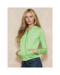 Ralph Lauren | Green Pink Pony Hooded Jacket | Lyst