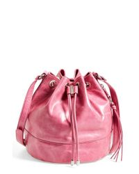 Hobo | Pink Tulia Leather Bucket Bag | Lyst