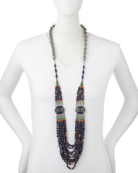 Devon Leigh | Blue Long Multi-strand Necklace | Lyst
