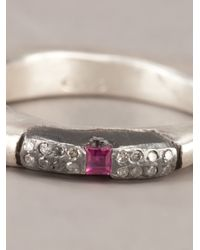 Rosa Maria | Pink Silver Treated Ring | Lyst