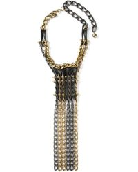 Lanvin | Metallic 'taliska' Necklace | Lyst