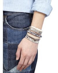 Hipanema - Metallic Silver And Gold Tone Embellished Cuff - Lyst