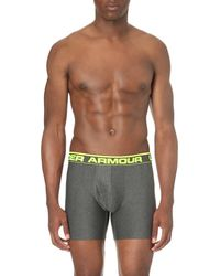 Under Armour | Gray Original Stretch-jersey Boxer Briefs for Men | Lyst