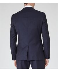 Reiss | Blue Lester B Mottled Wool Blazer for Men | Lyst