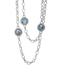 Lagos - Metallic 'maya' Long Station Necklace - Lyst