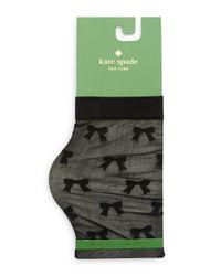 Kate Spade | Black Bow Patterned Socks | Lyst