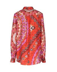Emilio Pucci | Red Long Sleeve Shirt | Lyst