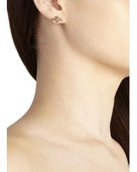 Marc By Marc Jacobs | Pink Rose Gold Tone Toggle Earrings | Lyst