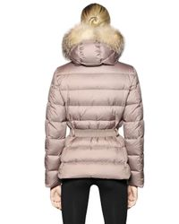 Moncler - Natural Fabrette Nylon & Micro Lux Down Jacket - Lyst