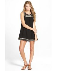 Rip Curl | Black 'fantasy' Babydoll Dress | Lyst
