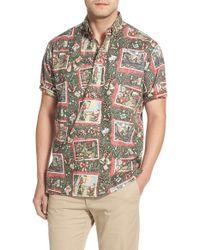 Reyn Spooner - Blue 'hawaiian Christmas' Classic Fit Wrinkle Free Pullover Shirt for Men - Lyst