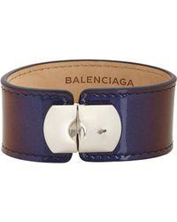 Balenciaga - Blue Padlock Bracelet - Lyst