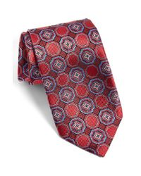 JZ Richards | Red J.z Richards Medallion Silk Tie for Men | Lyst