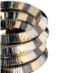 ASOS | Metallic Mix Metal Coil Anklet | Lyst