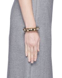 J.Crew | Green Lucite-and-crystal Bracelet | Lyst