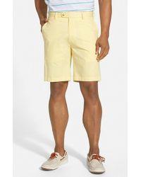 Peter Millar - Yellow Flat Front Lightweight Cotton Shorts for Men - Lyst