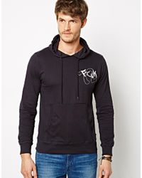 French Connection | Blue Hoodie Etched for Men | Lyst