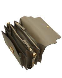 Marni - Gray Grey Trunk Leather Bag - Lyst