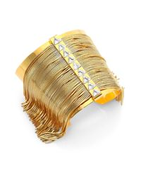 Ca&Lou | Metallic Fringe Allover Cuff Bracelet | Lyst