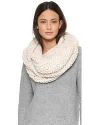 Bickley + Mitchell - Natural Infinity Scarf - Black - Lyst