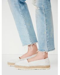 Free People - White Fp Collection Womens Palm Espadrille - Lyst