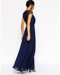ASOS - Blue Kate Lace Maxi Dress - Lyst