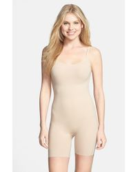 Spanx | Natural 'trust Your Thinstincts' Mid Thigh Bodysuit Shaper | Lyst
