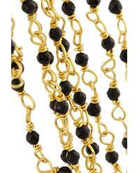 Rosantica - Black Rosarietto Gold-Dipped Onyx Ear Cuff - Lyst