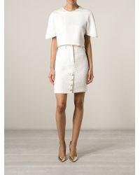 Moschino - White Tweed Skirt - Lyst