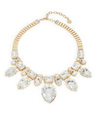 R.j. Graziano | Metallic Teardrop Crystal Statement Necklace | Lyst