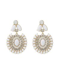 kate spade new york | White Capri Garden Statement Earrings | Lyst