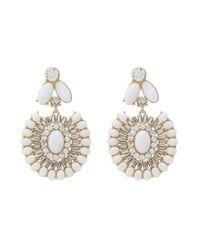 kate spade new york - White Capri Garden Statement Earrings - Lyst