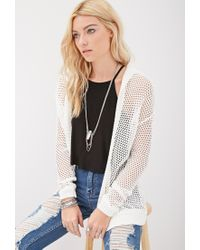 Forever 21 Hooded Open-knit Cardigan You've Been Added To The ...