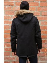 Forever 21 | Black Bellfield Wool-blend Parka for Men | Lyst