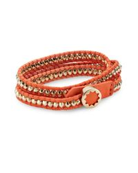 House of Harlow 1960 | Pink Beaded Wrap Bracelet | Lyst