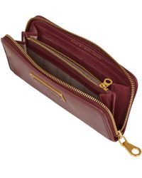 Marc By Marc Jacobs - Red Burgundy Goodbye Columbus Ziparound Purse - Lyst