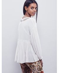 Free People - White Womens Dont Let Go Peasant Blouse - Lyst