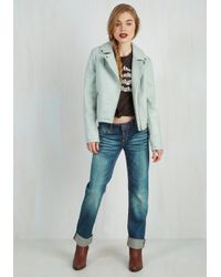 CoffeeShop - Blue Edgy Meets Elegant Jacket - Lyst