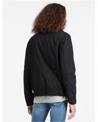 CALVIN KLEIN 205W39NYC - Black Jeans Cotton Poplin Jacket for Men - Lyst
