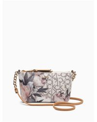 Calvin Klein - Multicolor Monogram Logo Crossbody Bag - Lyst