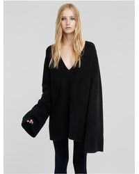 Calvin Klein   Black Collection Cashmere Bouclé Flared Sleeve Sweater   Lyst