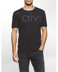 Calvin Klein | Black Jeans Slim Fit Oversized Logo T-shirt for Men | Lyst