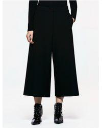 CALVIN KLEIN 205W39NYC - Black Platinum Platinum Belted Wide Leg Pants - Lyst