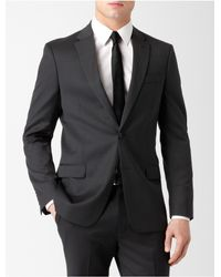 Calvin Klein - Black White Label Body Slim Fit Architect Micro Stripe Suit Jacket for Men - Lyst